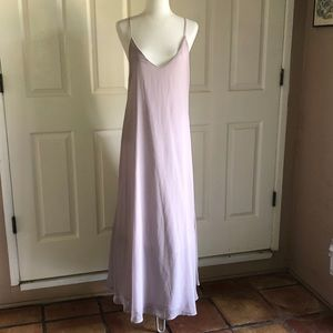 Lulu's Long Light Lilac Slip Dress